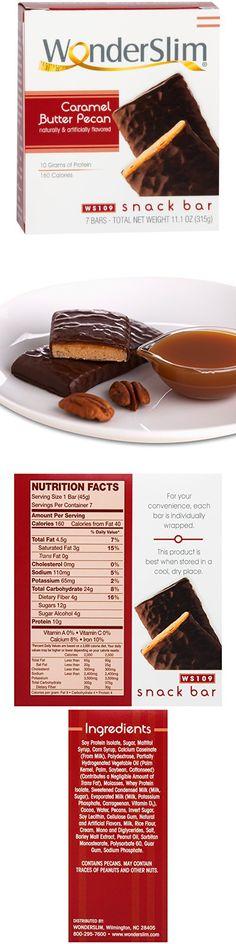 WonderSlim 10g Protein Diet Snack Bar - Caramel Butter Pecan (7 Servings/Box)