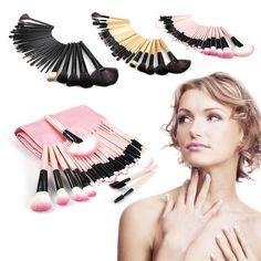 Brochas Maquillaje Sombras 32 Piezas