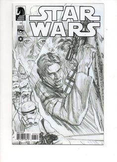 Star Wars Alex Ross Sketch Variant Per Store) Dark Horse Comic Star Wars Comics, Marvel Comics, Horse Star, Han Solo And Chewbacca, Dark Comics, Comics For Sale, Star War 3, Dark Star, Alex Ross