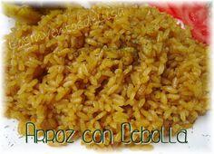 Los Inventos de Lisa: Arroz con cebolla Puerto Rican Cuisine, Puerto Rican Recipes, Cuban Recipes, Rice Recipes, Side Dish Recipes, Easy Recipes, Recipies, Comida Boricua, Boricua Recipes
