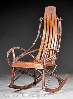 Amish Hickory Bentwood Rocker Made In The USA Gift Ideas - Antique bentwood rocker rocking chair