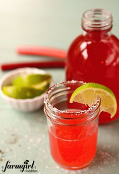 Loe rhubarb and can't wait to try this come Spring! farmgirl rhubarb margarita
