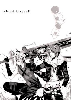 Cloud and Squall by kyo52473.deviantart.com on @deviantART