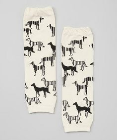 Loving this White & Black Dog Leg Warmers on #zulily! #zulilyfinds