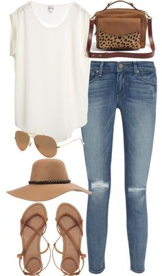 Untitled #1118 by im-emma featuring a floppy hat