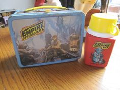 VINTAGE STAR WARS EMPIRE STRIKES BACK METAL LUNCH BOX 1980 WITH THERMOS