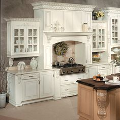 Victorian Kitchen Ideas: Victorian Kitchen Design All Information About Home… White Kitchen Cabinets, Kitchen Cabinet Design, Kitchen Cabinetry, Kitchen Interior, Kitchen Decor, Bathroom Cabinets, Kitchen Modern, Kitchen Ideas, Kitchen Pictures