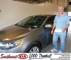 #HappyAnniversary to John Gage on your 2012 #Kia #Forte from Stanley Bowie at Southwest Kia Dallas!