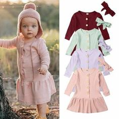 Get ready for the spring season with this cute outfit perfect for your little ones. Cute Dresses, Cute Outfits, Spring Outfits, Spring Clothes, Christmas Ribbon, Cool Baby Stuff, Spring Collection, Sweater Weather, New Day