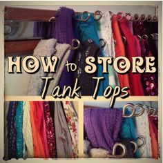 Fun blog for the organizationally challenged. Walks through different ways of storing tank tops and shares what works!