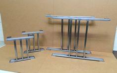 The Three Bars Set 2 Dining Table Legs  2 Bench Legs Heavy