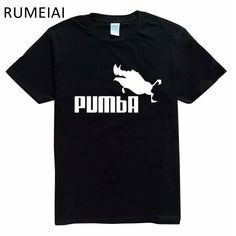 RUMEIAI 2017 funny tee cute t shirts homme Pumba men women 100% cotton cool tshirt lovely kawaii summer jersey costume t-shirt