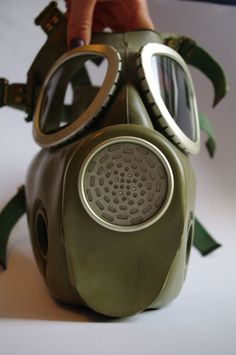 USSR, Soviet russian Gas Mask, Green rubber, Unused USSR Steampunk Goth mask, Commander Gas Mask, GP-7VM, Russian soviet military Soviet Era by VintagePolkaShop on Etsy
