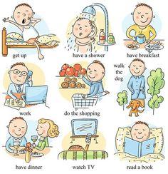 Spanish daily routine vocabulary