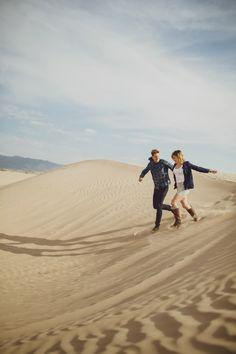 DESERT ENGAGEMENTS, DESERT LOVE, desert engagement shoot at the Utah sand dunes by wedding photographer Kayleen T.