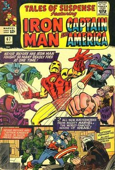 Tales of Suspense July 1965 cover by Jack Kirby and Carl Hubbell! Marvel Comic Books, Comic Book Characters, Comic Books Art, Comic Art, Book Art, Silver Age Comics, Univers Marvel, Hq Marvel, Marvel Heroes
