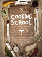 Cooking School Flyer from TicketPrinting.com