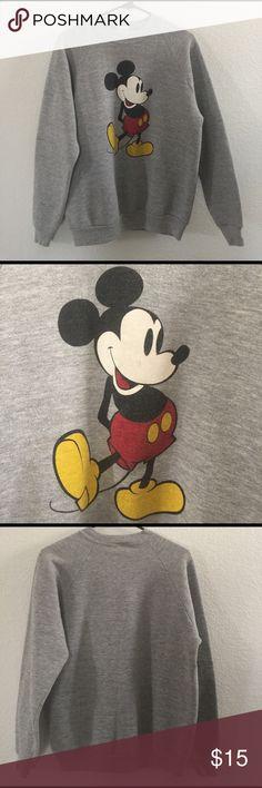 Disney Mickey Mouse Sweater Disney Character Sweater. Mickey Mouse. Size Large Girls. 48% polyester 45% cotton 4% rayon Disney Sweaters