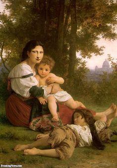 Mother Mona Lisa with her Children in the Garden