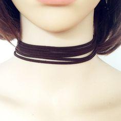 Fashion terciopelo leather DIY choker necklace