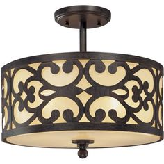"Nanti Collection Iron Oxide 14"" Wide Ceiling Light -"