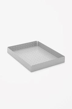 COS x Hay :: perforated metal paper tray Unique Home Accessories, Desk Accessories, Paper Tray, A4 Paper, Hay Design, Stationary Set, Perforated Metal, Metal Box, Sheet Metal