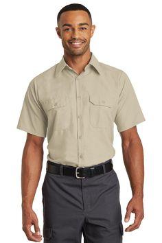 Red Kap Short Sleeve Solid Ripstop Shirt SY60 Khaki