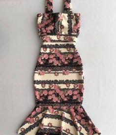 Vestido Neopreni Maria Laura, estampa floral, sem mangas