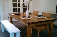rustic dining table $395