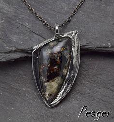 Astrophyllite necklace,Healing chakra necklace,Sterling silver,men pendant,Boho pendant,women pendant,Gypsy pendant,Fantasy pendant,peager by PeagerFantasyWorld on Etsy