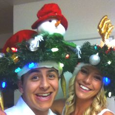 Crazy Christmas Hat party. Perfectly executed
