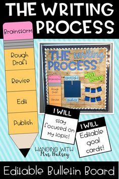 5th Grade Writing, Teaching 5th Grade, 2nd Grade Classroom, Teaching Writing, Writing Activities, Classroom Themes, Kindergarten Writing, Future Classroom, Writing Process Pencil