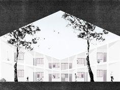 Officekgdvs_Apartment complex in Geneva Collage Architecture, Architecture Images, Architecture Graphics, Architecture Visualization, Architecture Drawings, Architecture Details, Landscape Architecture, Architecture Diagrams, Photomontage