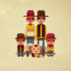 WESTERN Family #leblox #pixelart #3Dprinting #8bit #minecraft #cowboy #western