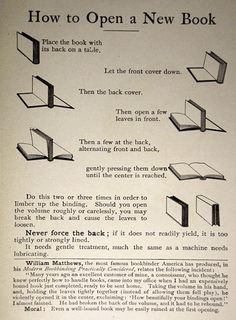 How to Open a New Book