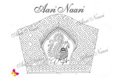 Peacock Embroidery Designs, Border Embroidery Designs, Embroidery Patterns Free, Doily Patterns, Dress Patterns, Aari Embroidery, Hand Work Embroidery, Hand Work Blouse Design, Kutch Work Designs