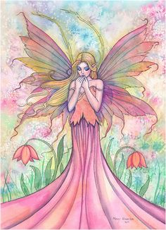 """""Wildflower"" Fairy Art by Molly Harrison"""