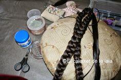 El calaixet de la iaia: Como hacer y coser un moño para el peinado de fallera paso a paso