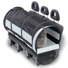 Travel worry-free with your pet with the Petego Pet Tube Car Kennel. This lightweight, tubular carrier uses safety belts to securely attach to the car seat. It gives your pet enough room to roam while still keeping them contained and away from the driver. Pet Car Seat, Dog Car, Car Seats, Airline Pet Carrier, Moving Cross Country, Car Seat Protector, Cat Carrier, Dog Travel, Travel Box