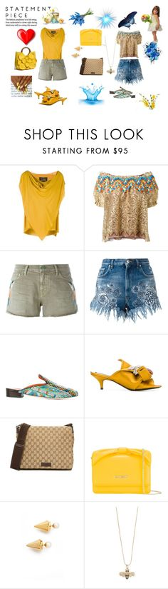"""""""Marvelous..."""" by jamuna-kaalla ❤ liked on Polyvore featuring Vivienne Westwood Anglomania, Peter Pilotto, Sandrine Rose, Versus, Bams, N°21, Love Moschino, Vita Fede, Sydney Evan and vintage"""