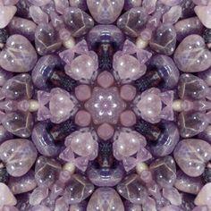 Amethyst Crystal Mandala, made by our Robin @ Healing Crystals