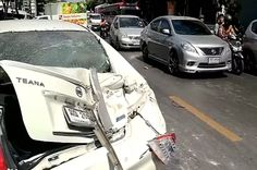 Truck driver smashes 41 cars after being dumped by wife
