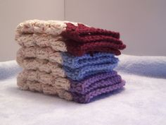 Granny Square Wash Cloth Dish Cloth set of 3 by paperjoyboutique