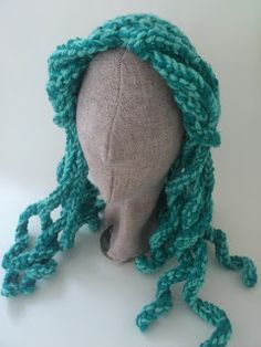 crochet mermaid hair, I need to make a grown up one too! Pattern on etsy soon x