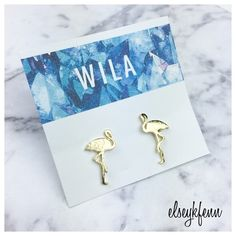 BOGO 1/2 OFF [nwt] 16k gold flamingo studs Gold Flamingo Stud Earrings by Wila your go-to summer studs ☀️  16k gold plated metal alloy  no trades ∣ price firm ∣ brand new with tags   Bundle 3+ items and save 15% off your order! Wila Jewelry Earrings