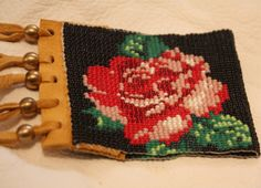 Hey, I found this really awesome Etsy listing at https://www.etsy.com/listing/227688189/native-american-floral-loomed-beaded