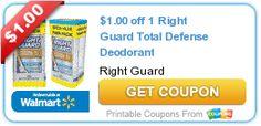 Coupon $1.00 off 1 Right Guard Total Defense Deodorant http://azfreebies.net/coupon-1-00-1-right-guard-total-defense-deodorant/