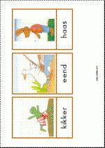 Woordkaarten - De vrienden van Kikker