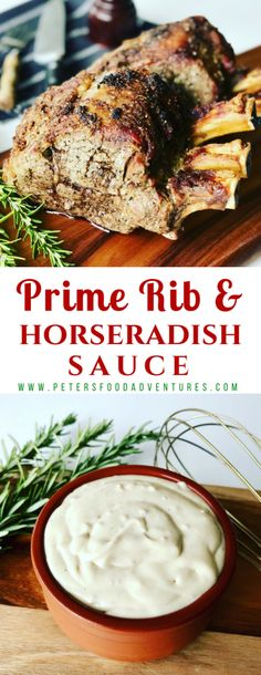Roasted Prime Rib Recipe, tender and juicy, cooked perfectly at medium-rare. A S… Roasted Prime Rib Recipe, tender and juicy, cooked perfectly at medium-rare. A Standing Rib Roast that's simple and delicious! Prime Rib Recipe Oven, Ribs Recipe Oven, Cooking Prime Rib, Rib Roast Recipe, Rib Recipes, Roast Recipes, Dinner Recipes, Prime Rib Dinner, Prime Rib Roast