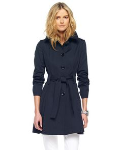 Single-Breasted Trench, Black or Truffle by MICHAEL Michael Kors at Neiman Marcus.